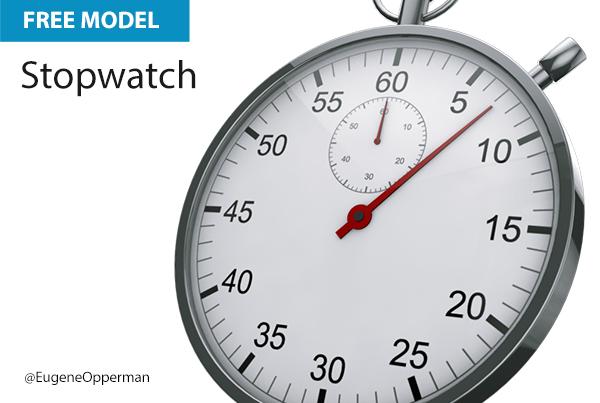 Free Cinema 4D Model | Stopwatch