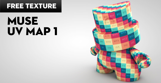 Free Cinema 4D Texture | Muse UV Map 1