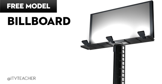 Free Cinema 4D Model | Billboard