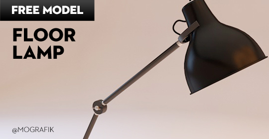 Free Cinema 4D Model | Floor Lamp
