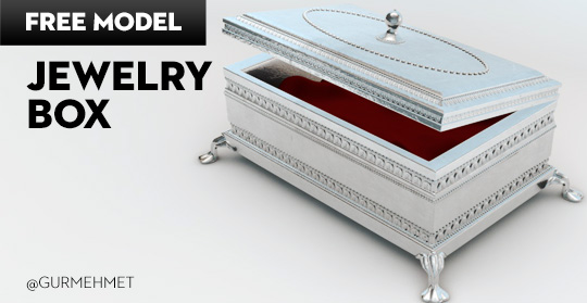 Free Cinema 4D Model | Jewelry Box