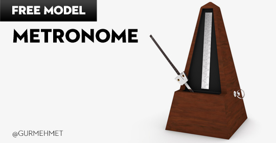 Free Cinema 4D Model | Metronome