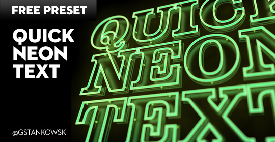 Free Cinema4D Preset | Quick Neon Text