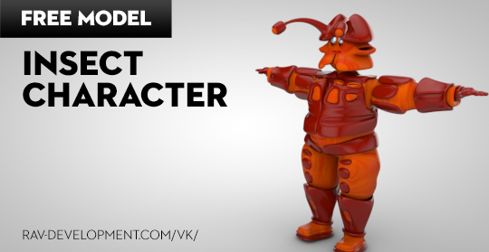 Free Cinema 4D Model | Insect Character
