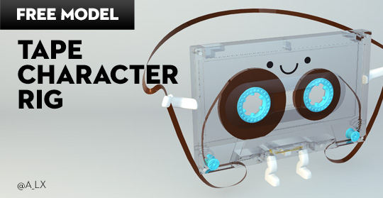 Free Cinema 4D Model | Tape Character Rig