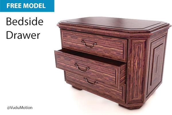 Free Cinema 4D Model | Bedside Drawer