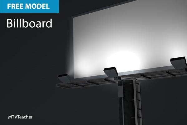 Free Cinema 4D Model | Billboard