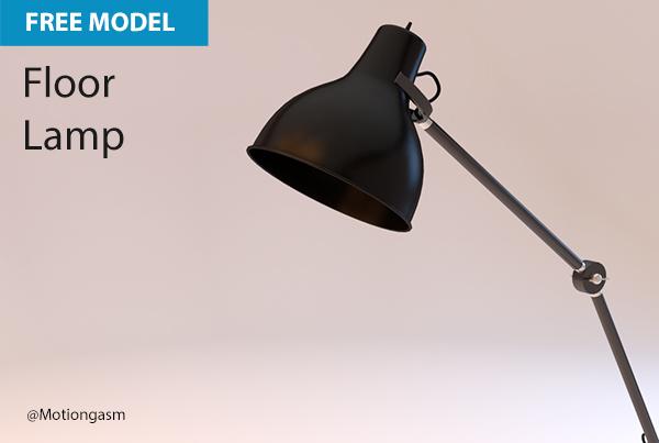 Free Cinema 4D Model | Floor Lamp