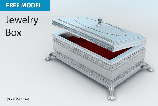 Free Cinema 4D Model | Jewelry Box