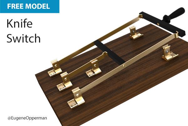 Free Cinema 4D Model | Knife Switch