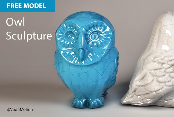 Free Cinema 4D Model | Owl Sculpture