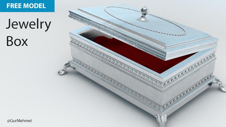 Free Cinema 4D Model | Jewelry Box – Muse Creative