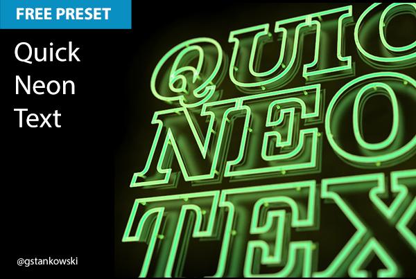 Free Cinema 4D Preset | Quick Neon Text