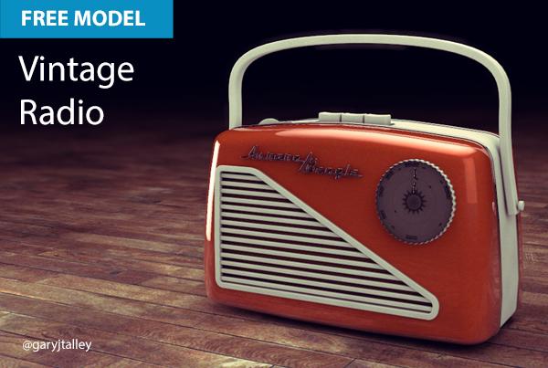 Free Cinema 4D Model   Vintage Radio