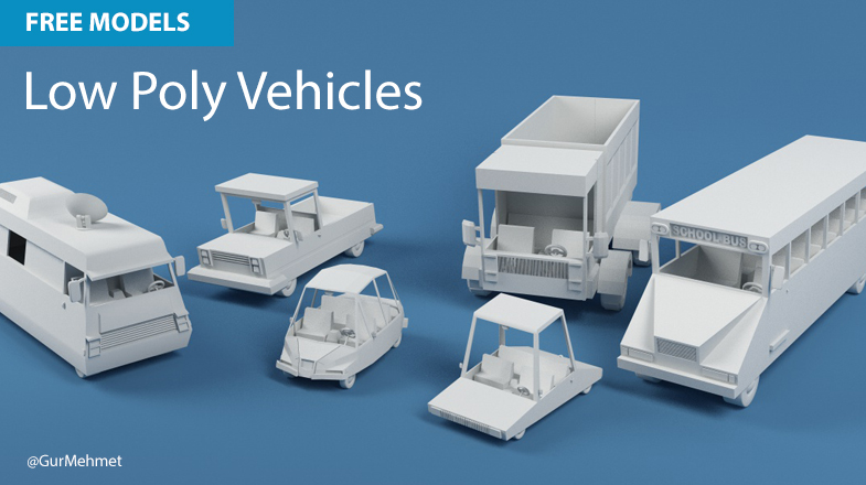 Free Cinema 4d Models Low Poly Vehicles Muse Creative